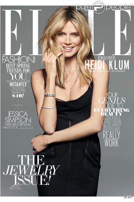 Couverture Elle USA avec Heidi Klum