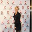 Rebecca Hampton lors du lancement de l'édition du Sidaction 2012 sur toutes les chaînes et radios françaises le 12 mars 2012 au musée du Quai Branly à Paris