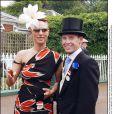 Zara Phillips et Richard Johnson en juin 2003 à Ascot. Leur histoire d'amour a  fait les choux gras de la presse anglaise de 1998 à 2003.   Zara Phillips a assisté avec effroi, au 2e jour de courses à Cheltenham le 14 mars 2012, à la chute de Wishful Thinking et du jockey Richard Johnson, son ex-petit ami (1998-2003).
