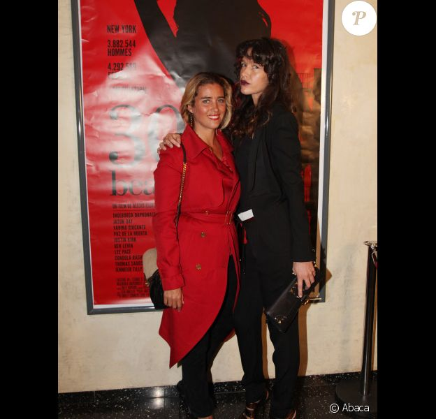 Paz de la Huerta et Vahina Giocante à l'avant-première du film 30 beats de Alexis Lloyd au Max Linder, le 15 mars 2012