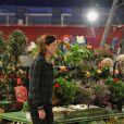 Albert et Caroline de Monaco découvre la kermesse organisée par l'oeuvre de Soeur Marie, dans le quartier de Fontvieille à Monaco, le 16 mars 2012.
