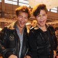 Igor et Grichka Bogdanoff signent quelques exemplaires de leur livre au Salon du Livre de Paris, le samedi 17 mars 2012.