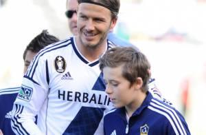 David Beckham, entouré de ses trois adorables fils, retrouve le sourire