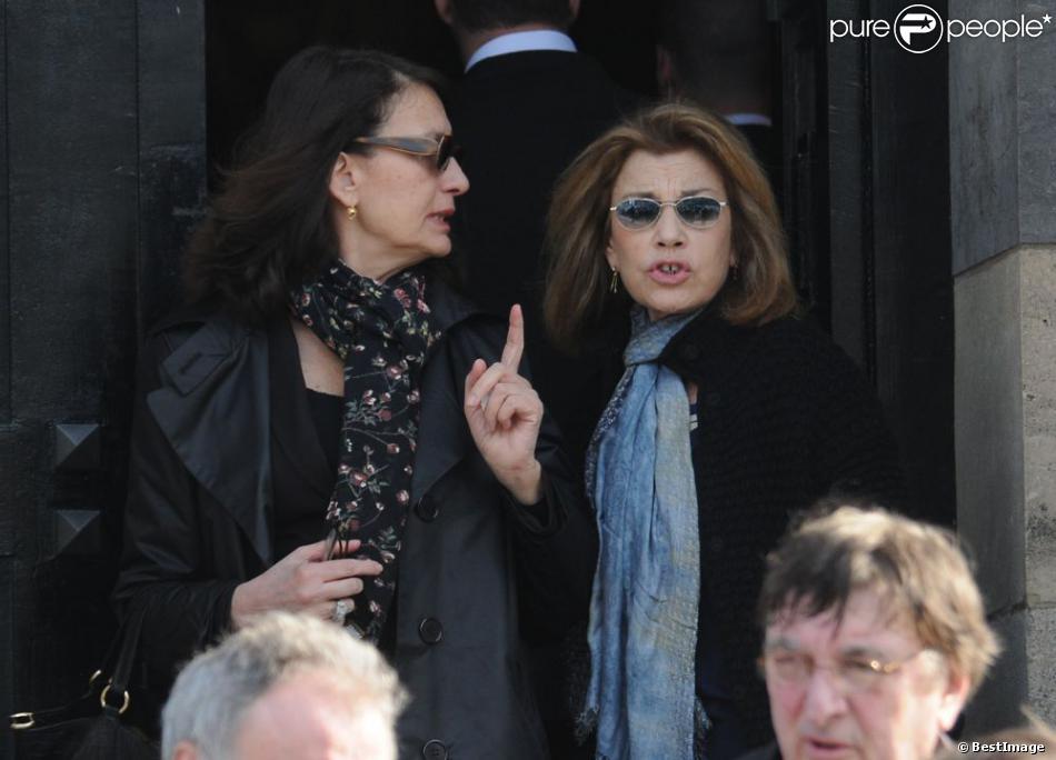 Ludmila mika l et nicole calfan lors des obs ques de - Jeanne mas et son mari ...