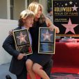 Felicity Huffman et William H. Macy reçoivent leur étoile sur le Walk of Fame à Los Angeles, le 8 mars 2012.