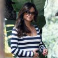 Vanessa Minnillo enceinte se promène dans les rues de Los Angeles le 8 mars 2012