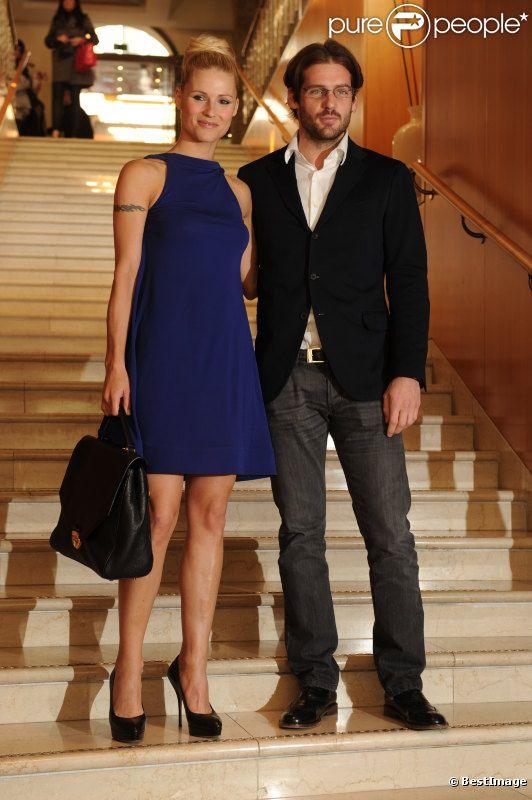 Michelle Hunziker et son compagnon Tomaso Trussardi au prix du journalisme 2012 à Milan, le 22 mars 2012