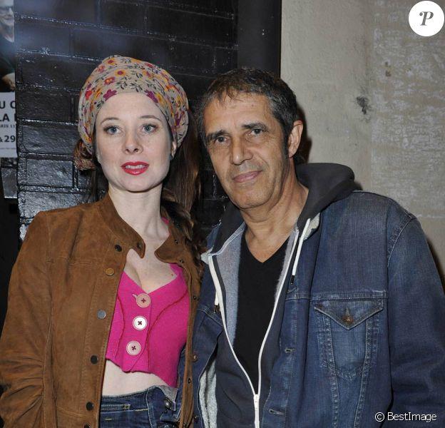 Hélène Grémillon et Julien Clerc au concert de Philippe Uminski au Café de la Danse, à Paris, le 24 mars 2012, pour la présentation de son nouvel album, Mon Premier Amour.