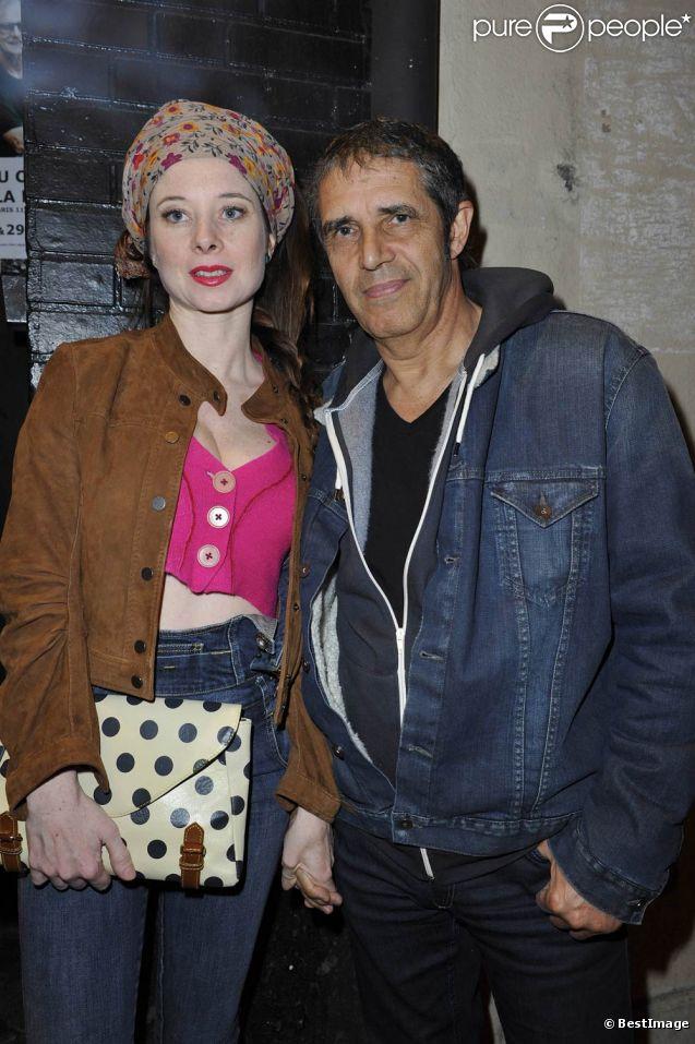 Hélène Grémillon et Julien Clerc au concert de Philippe Uminski au Café de la Danse, à Paris, le 24 mars 2012, pour la présentation de son nouvel album,  Mon Premier Amour .