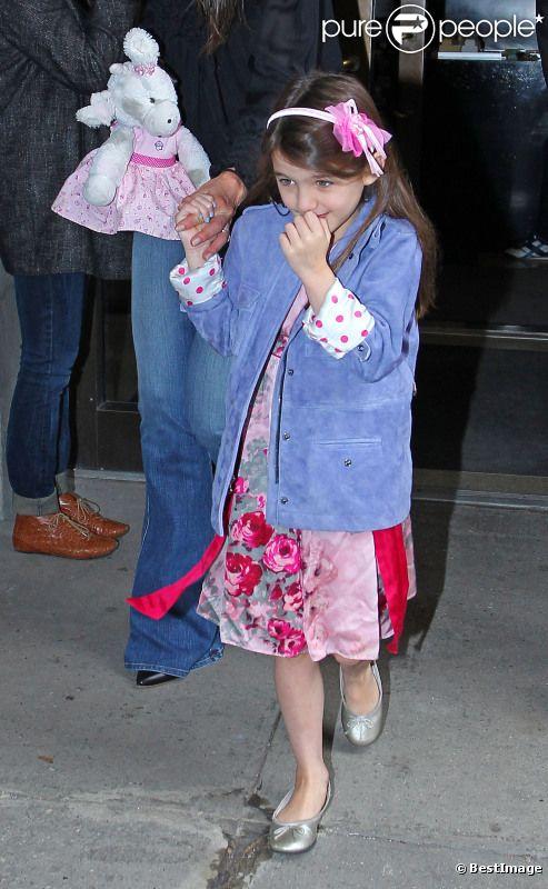 Suri Cruise dans les rues de New York, le 25 mars 2012