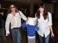 Steven Tyler et Liv Tyler hilares quand le petit Milo joue à cache-cache