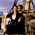 Kate Winslet et Leonardo DiCaprio dans  Titanic.