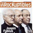 Lionel Jospin, Michel Rocard, Laurent Fabius en couverture des  Inrockuptibles , semaine du 21 au 27 mars 2012.