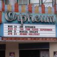 Johnny Hallyday au fronton de l'Orpheum pour son premier concert du 24 avril 2012 qui commencera à LA