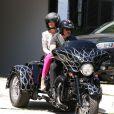 Johnny Hallyday et sa femme Laeticia le 31 mars 2012 à Los Angeles