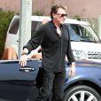 Johnny Hallyday le 24 février 2012 à Los Angeles