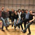 Johnny Hallyday et ses musiciens à Los Angeles