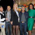 Anthony Kaplan, Allan Theo, Miss Prestige National, Farid Khider et Vincent Mc Doom lors de l'avant-première de la Foire du trône, à Paris, le 6 avril 2012