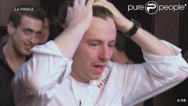 Jean Imbert célèbre sa victoire dans Top Chef 2012