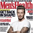 David Beckham en Une du magazine masculin Men's Health de mars 2012.