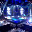 Garou, Blandine, Atef et Flo reprennent en live With or Without You de U2 dans The Voice le samedi 14 avril 2012 sur TF1