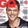 Matt Damon en couverture du nouveau  GQ  en kiosques le 18 avril 2012.