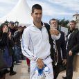 Le prince Albert et la princesse Charlene de Monaco, coupe garçonne surprise, ont assisté dimanche 22 avril 2012 à la victoire expéditive de Rafael Nadal sur Novak Djokovic en finale du Rolex Masters 1000 de Monte-Carlo, et récompensé les deux joueurs lors de la cérémonie de clôture.