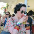 Dita Von Teese à Coachella le 21 avril 2012