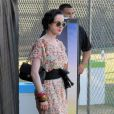Dita Von Teese en combinaison romantique à Coachella le 21 avril 2012