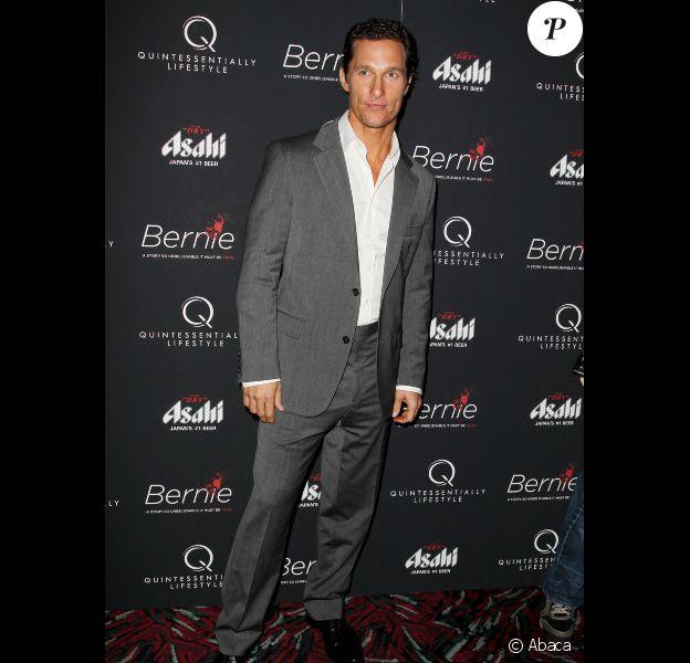 Matthew McConaughey à New York le 23 avril 2012