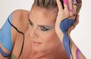Heidi Klum : Une égérie beauté très sexy en mode body-painting !