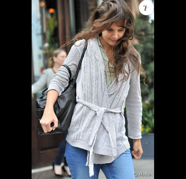 Katie Holmes au naturel à New York, le 25 avril 2012