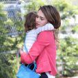 Jessica Alba complice avec sa fille Honor à Santa Monica. Le 27 avril 2012.