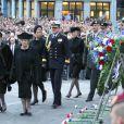 La reine Beatrix, le prince Willem-Alexander et la princesse Maxima des Pays-Bas assistaient le 4 mai 2012 à Amsterdam aux commémorations de la Seconde Guerre mondiale.