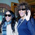 Whitney Houston et sa fille Bobbi Kristina le 9 février 2011 à Los Angeles