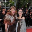 Le duo Brigitte lors de la montée des marches le 21 mai 2012 dans le cadre du Festival de Cannes lors de la présentation du film d'Alain Resnais Vous n'avez encore rien vu