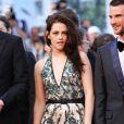 Garrett Hedlund, Kristen Stewart et Tom Sturridge lors de la montée des marches de  Sur la route , le 23 mai 2012 au Festival de Cannes.
