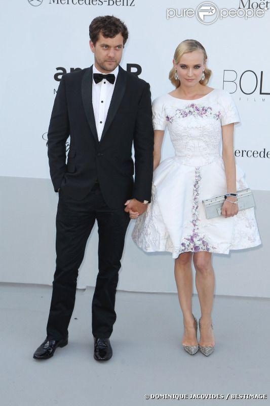 Diane Kruger et Joshua Jackson arrivent au gala de l'amfAR au Cap d'Antibes, le 24 mai 2012.