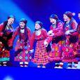 Buranovskie Babushki lors des répétitions de l'Eurovision le 26 mai 2012 à Bakou en Azerbaïdjan