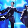 Can Bonomo lors des répétitions de l'Eurovision le 26 mai 2012 à Bakou en Azerbaïdjan