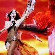 Anggun lors des répétitions de l'Eurovision le 26 mai 2012 à Bakou en Azerbaïdjan