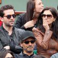 Grégory Fitoussi, Caterina Murino et Pascal Elbé le 3 juin 2012 à Roland-Garros