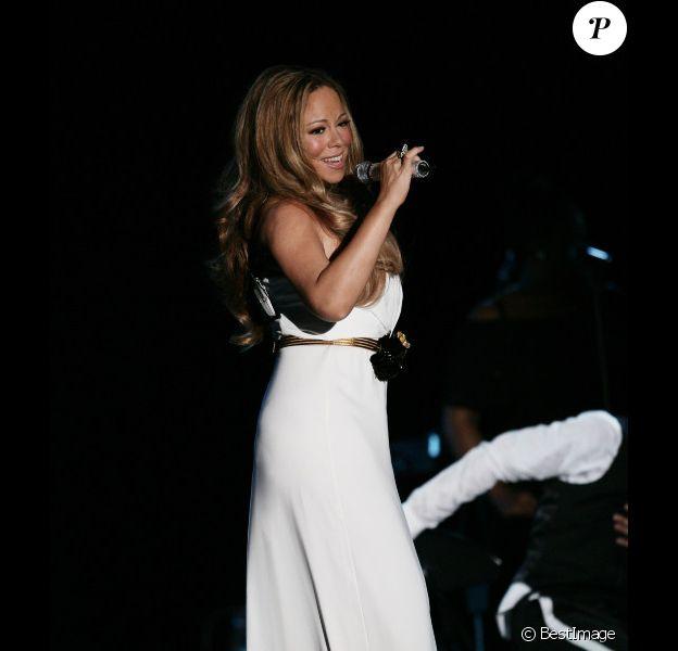 Mariah Carey : superbe et immaculée lors de son concert le 2 juin 2012 à la salle des Étoiles de Monaco