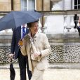 La princesse Anne au pique-nique du Big Jubilee Lunch dans les jardins de Buckingham Palace, le 4 juin 2012.