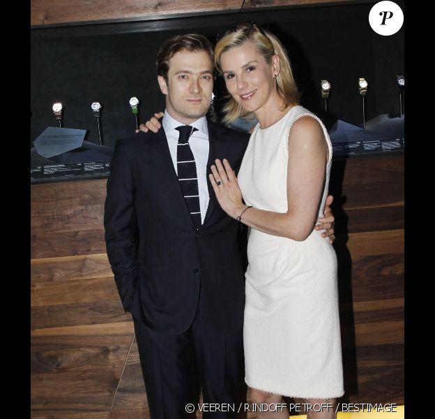 Renaud Capuçon et Laurence Ferrari pour le 40e anniversaire de la Royal Oak de la marque Audemars Piguet, au Palais de Tokyo à Paris, le 5 juin 2012.