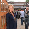 Cécile de Ménibus au tournoi de Roland-Garros, le jeudi 6 juin 2012.