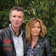 Denis Brogniart et sa femme Hortense au tournoi de Roland-Garros, le jeudi 6 juin 2012.