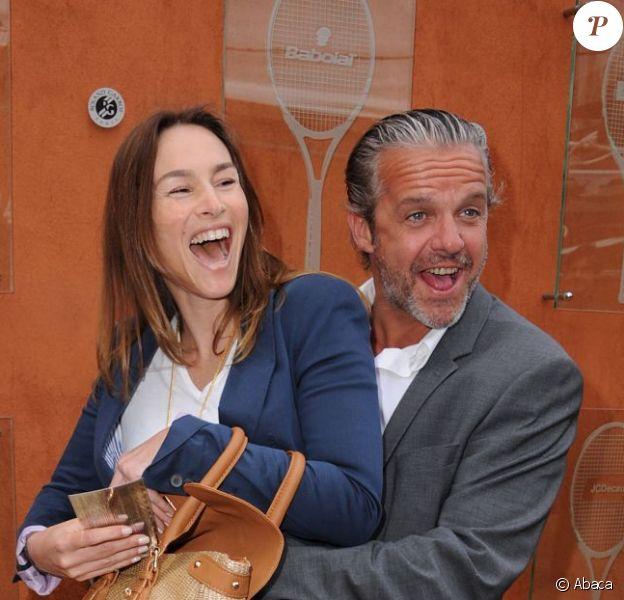 Vanessa Demouy et David Brécourt au tournoi de Roland-Garros, le jeudi 6 juin 2012.