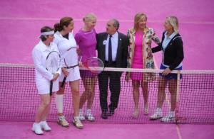 Roland-Garros ose le rose pour les femmes sous les yeux de Martina Navratilova
