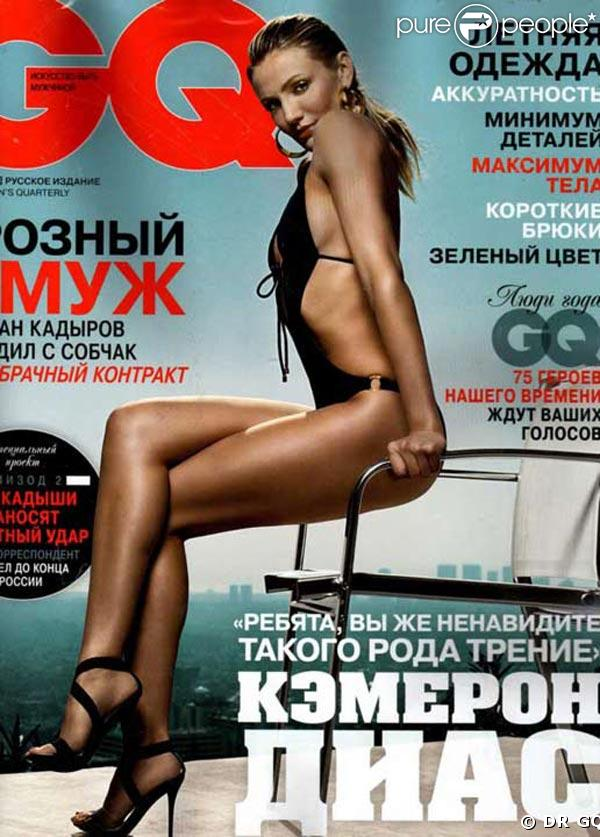 Sculpturale Cameron Diaz dans l'édition russe de GQ